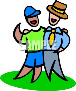 294x350 Royalty Free Clip Art Image Brothers With Different Life Styles