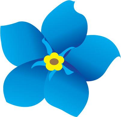 403x391 Blue Flower Clipart Different Flower