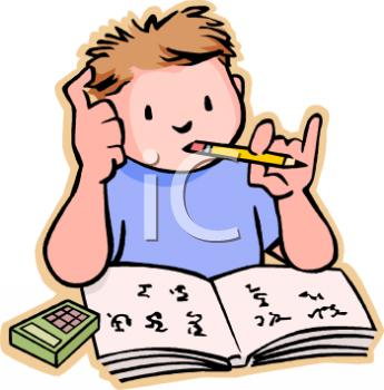 345x350 Math Homework Clipart