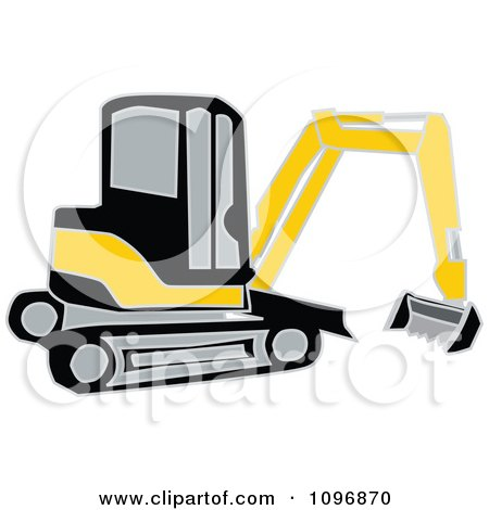 450x470 Clipart Black And Yellow Earth Mover Excavator