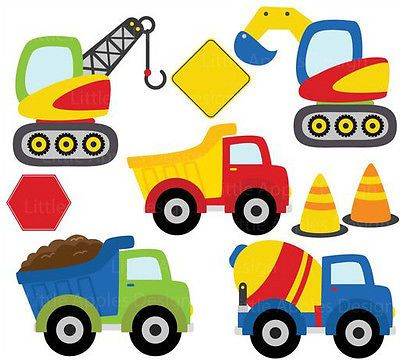 400x360 Construction Diggers Bob The Builder Style Childrens Nursery Wall