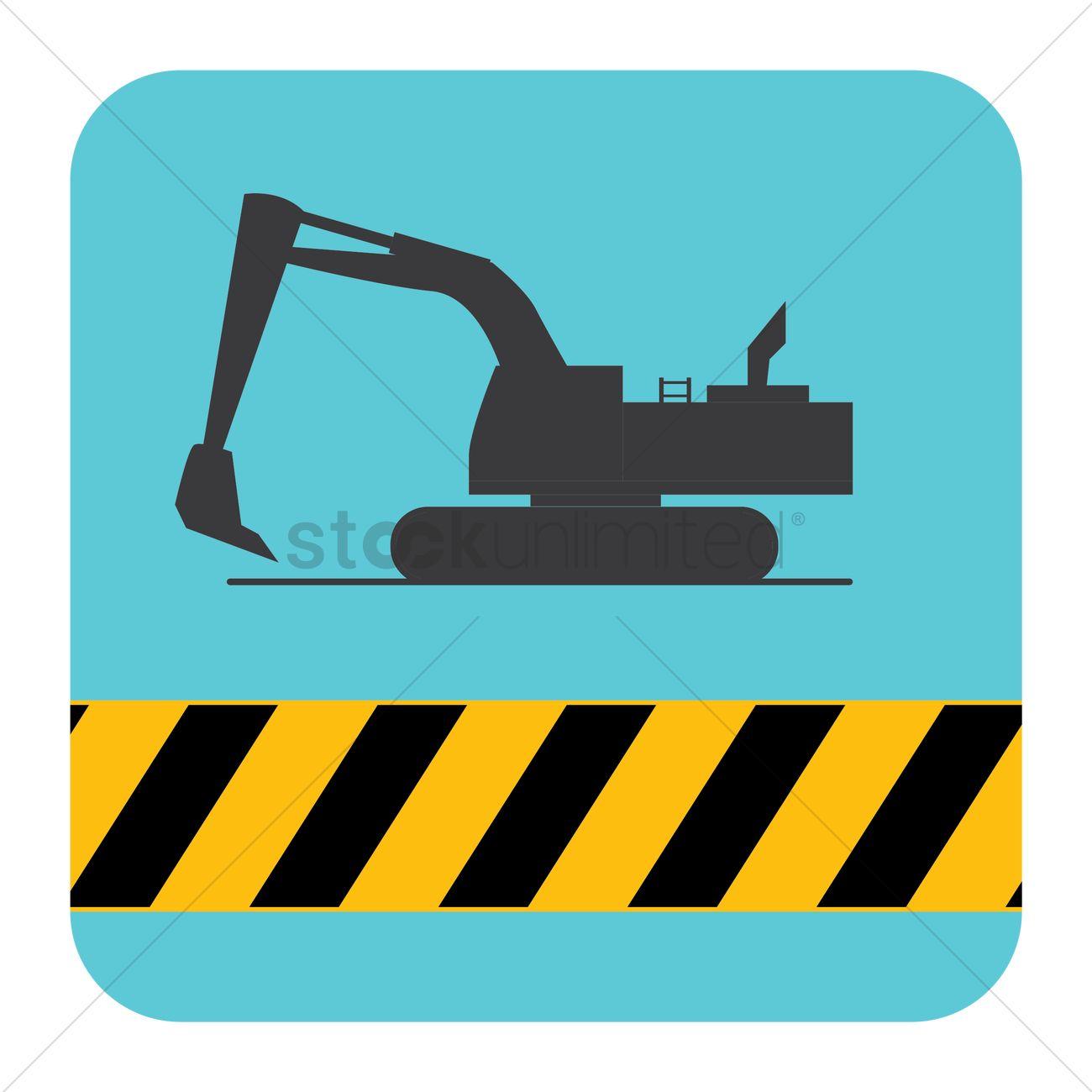 1300x1300 Excavator Vector Image