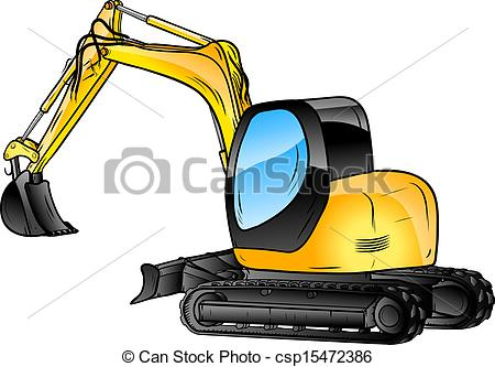 450x333 Excavator Isolated On The White Background Vector