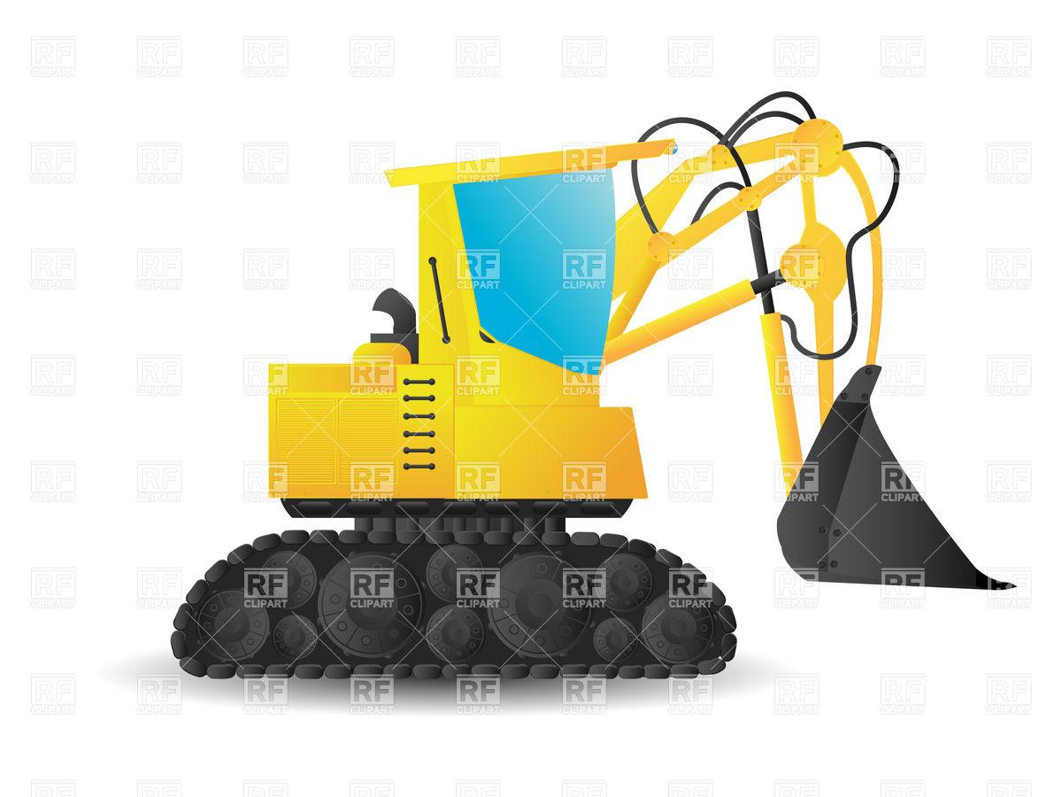 1200x900 Stylized Cartoon Bucket Excavator Royalty Free Vector Clip Art