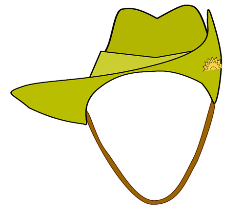 500x436 Digger Anzac Army Hat Clipart, 11 Cm