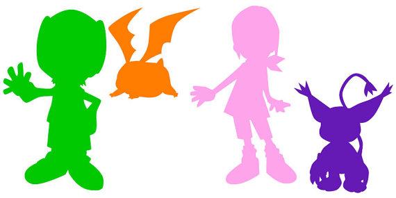 570x285 Digimon Digital Monsters Kari And Tk Takaishi Silhouette Digital