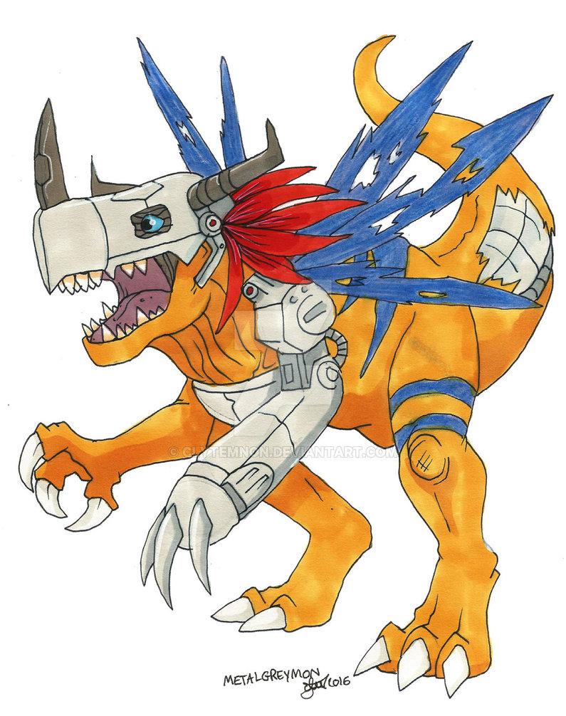 795x1006 Digimon Metal Greymon By Clytemnon