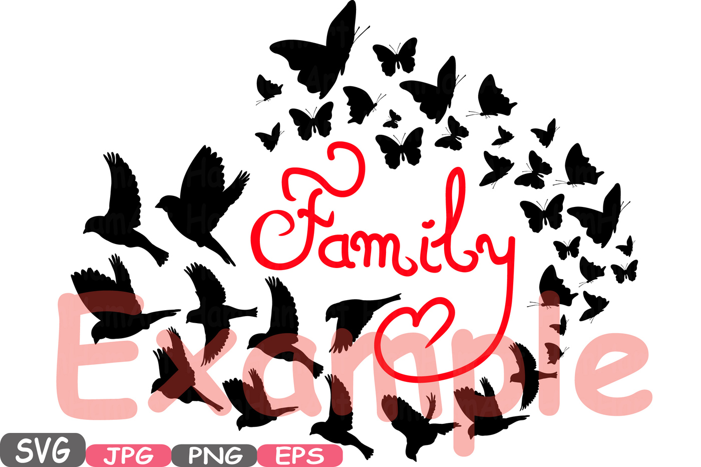 1400x932 Family Birds Amp Butterflies Butterfly Silhouette Digital Clipart