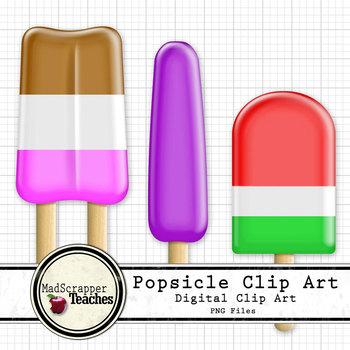 350x350 Popsicle Clip Art Digital Clipart Color By Madscrapper Teaches Tpt