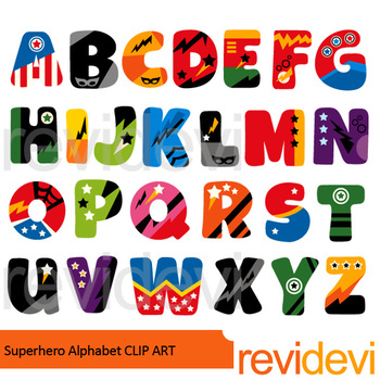 350x350 Alphabet Superhero Clip Art Bundle Big Letters Clipart, Borders