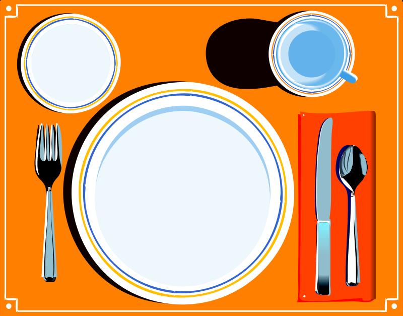 800x627 Clip Art Dinner Table Setting Clipart