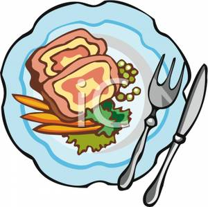 300x299 Dinner Plate With Food Clip Art Clipart