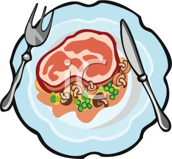 350x325 Ham Plate Clipart