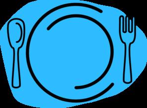 297x219 Blue Plate Cartoon Clip Art