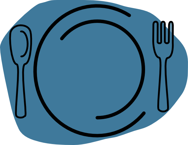 600x463 Blue Plate Clip Art