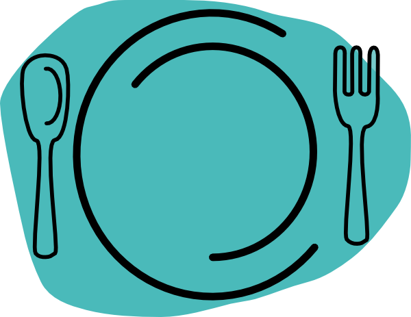 600x463 Plate Clipart Turquoise Plate Clip Art