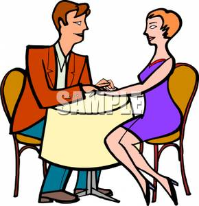 290x300 Royalty Free Clipart Image A Couple Holding Hands On A Date