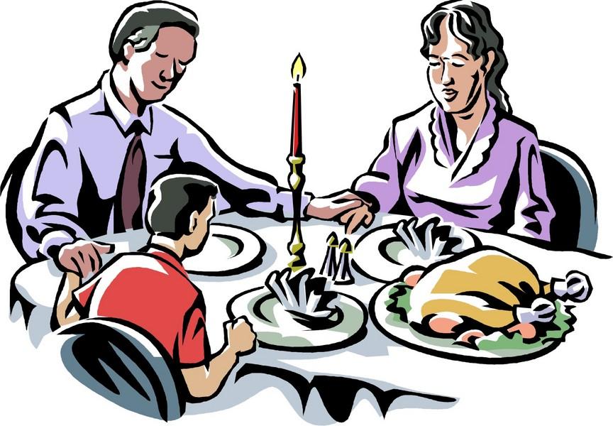 864x600 Turkey Dinner Clipart