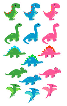 224x350 Cute Dinosaur Clipart, T Rex Clipart, Triceratops Clipart, Dino Party