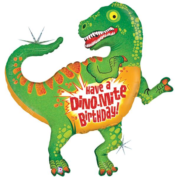 600x600 Dinosaur Birthday Supershape Foil Balloon
