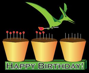 300x245 Dinosaur Cupcake Clip Art