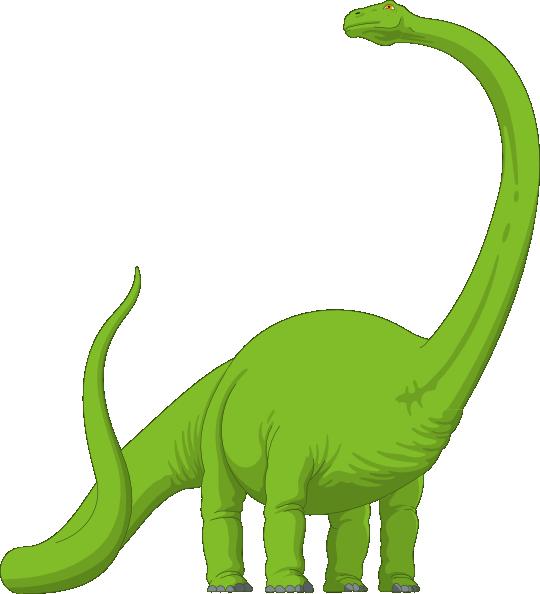 540x594 Long Neck Brachiosaurus Dinosaur Green Brachiosaurus Clip Art