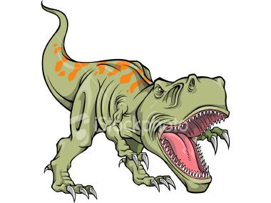 380x285 T Rex Dinosaur Bones Clipart