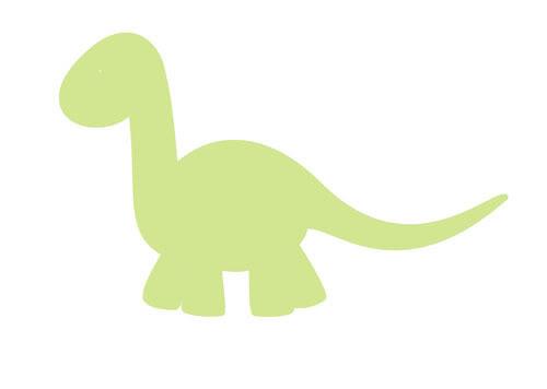 500x356 Baby Dinosaur Clipart Outline