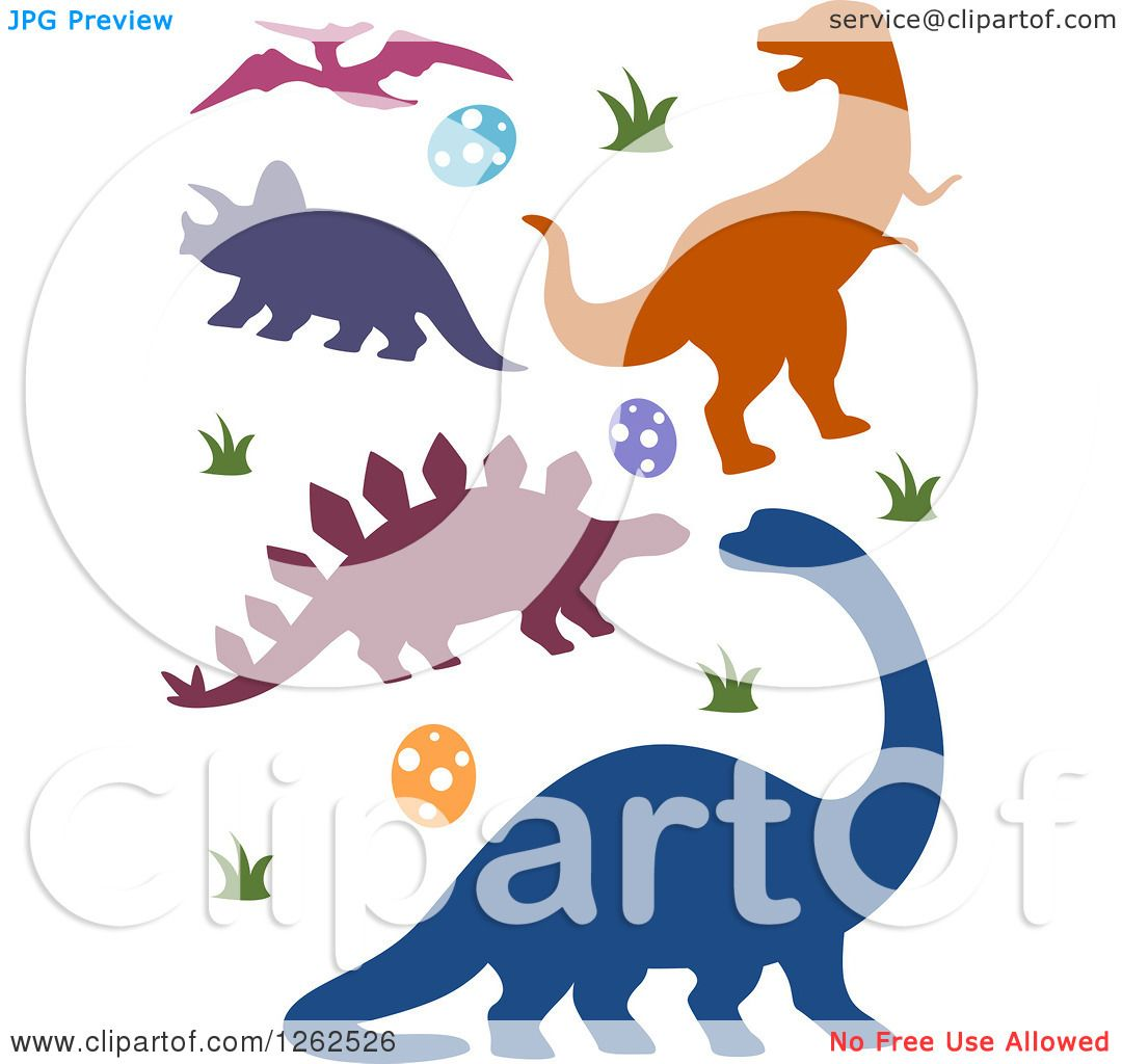 1080x1024 Clipart Of Silhouetted Dinosaurs Eggs And Grass