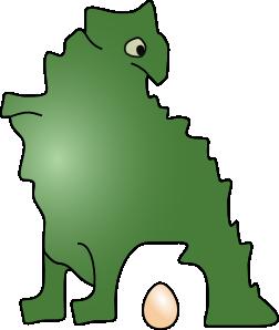 252x298 Dinosaur Laid An Egg Clip Art