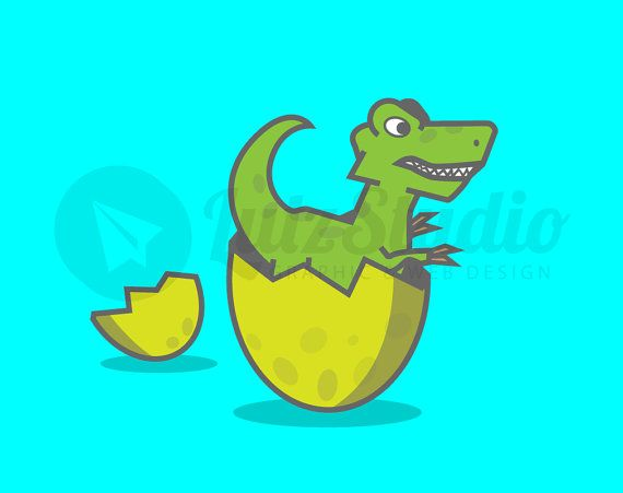 570x451 Clip Art Image Cute Baby Dinosaur Trex By Lutzstudiographics