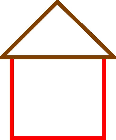 492x594 House Outline Clipart House Outline Clip Art