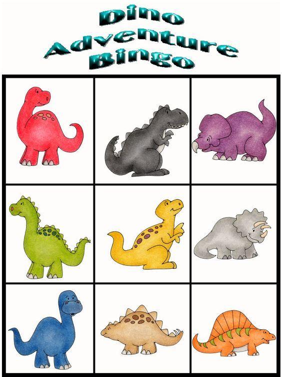 564x752 Customize Your Free Printable Dino Adventure Bingo 9 Dinosaurios