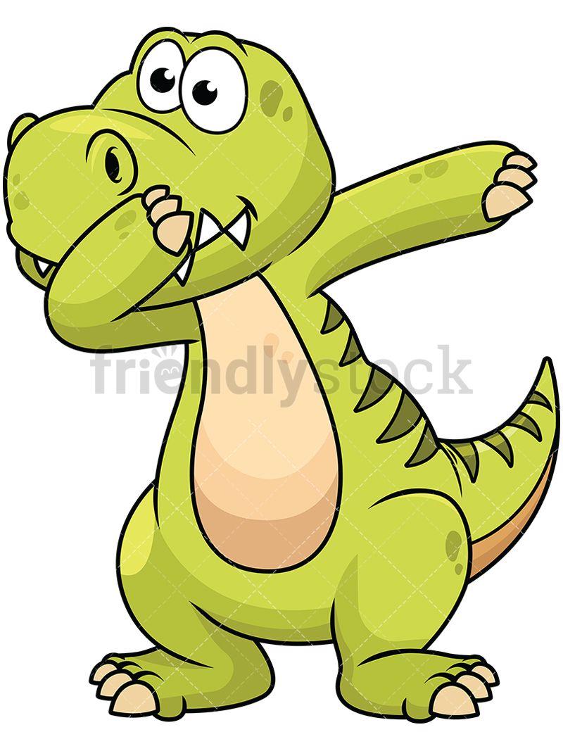 800x1067 Dabbing Dinosaur Vector Cartoon Clipart Dabbing And Animal