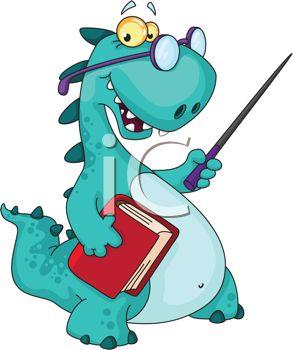 293x350 Dinosaur Teaching A Class