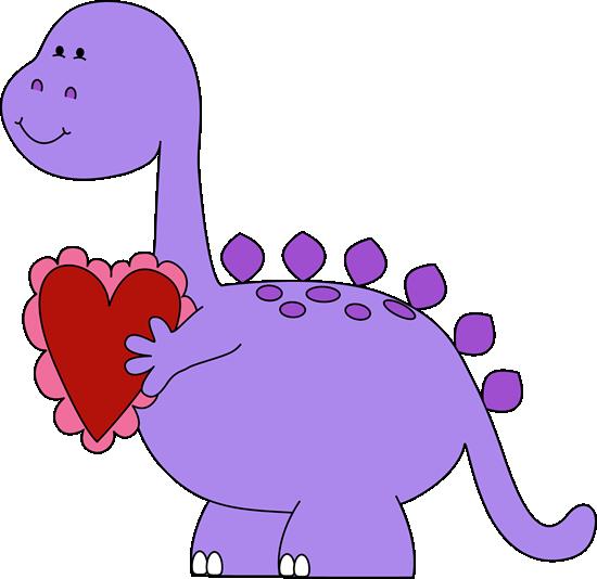 550x534 Valentine's Day Dinosaur Clip Art