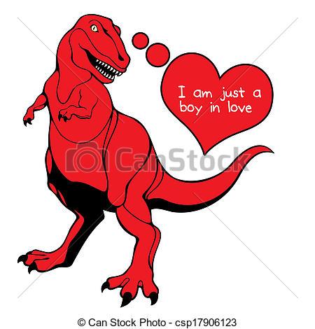450x470 Valentine's Day Dino Love. Valentine's Day Celebration A Stock