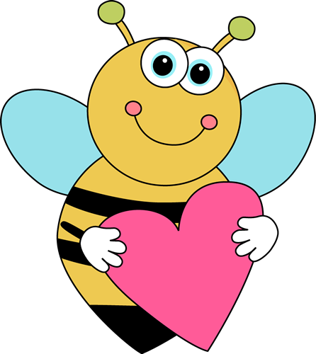 446x500 Bee Border Clip Art Cartoon Valentine's Day Bee