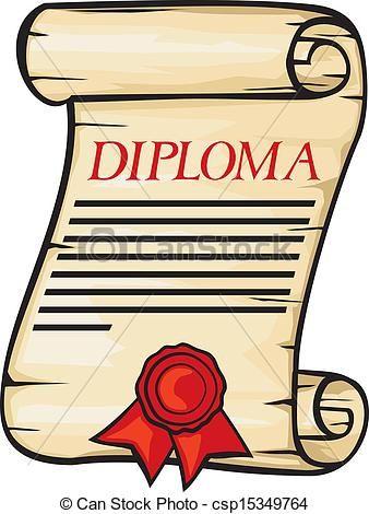 338x470 Simple Diploma Clip Art