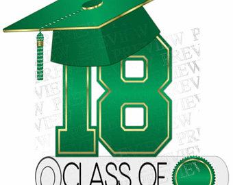 340x270 Class Of 2018 Clip Art More Colors Green Black Graduation