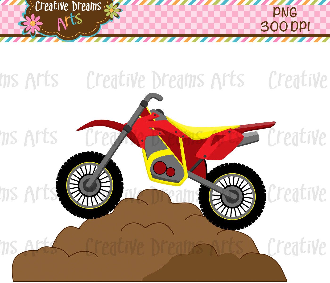 1400x1200 40% Off! Motorcyclesdirt Bike Digital Clip Art Instant Download