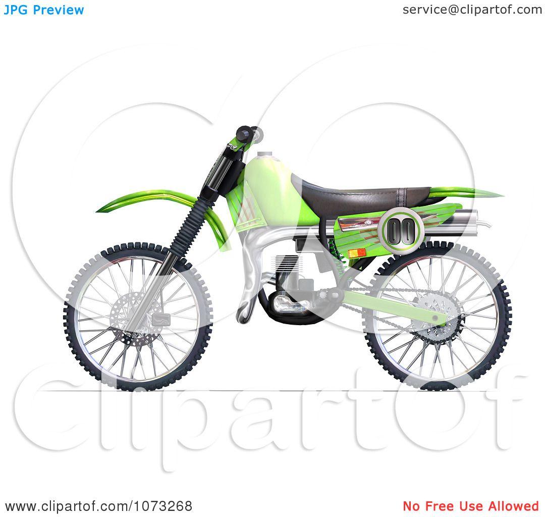 1080x1024 Clipart 3d Green Motocross Dirt Bike 2