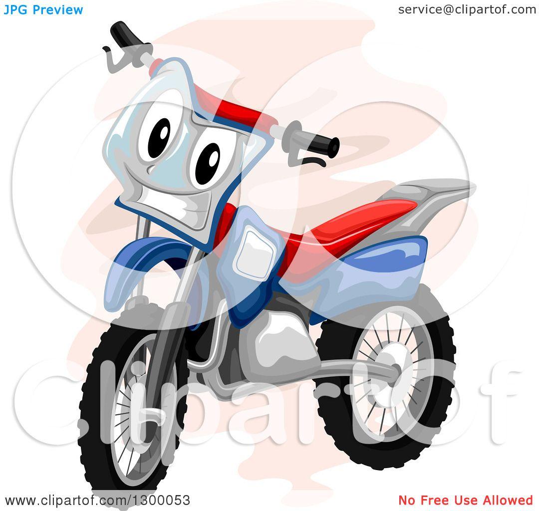 1080x1024 Clipart Of A Cartoon Motocross Bike Character