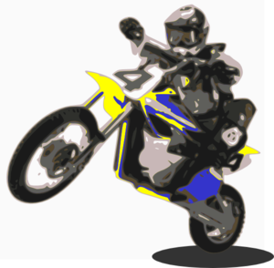 300x294 Motorcycle Jump Clip Art