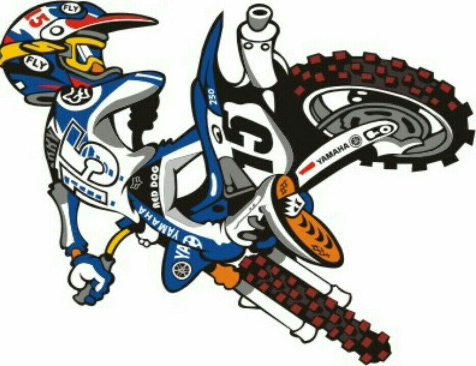 935x720 Pin By Luiz Mazza On Dirt Bikes Cartoon Art Dirt Biking