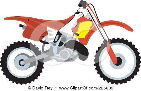 450x292 Royalty Free (Rf) Clipart Illustration Of A Red Dirt Bike By David