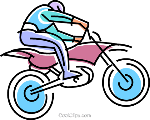 480x384 Dirt Bike Racer Flying Over A Jump Royalty Free Vector Clip Art