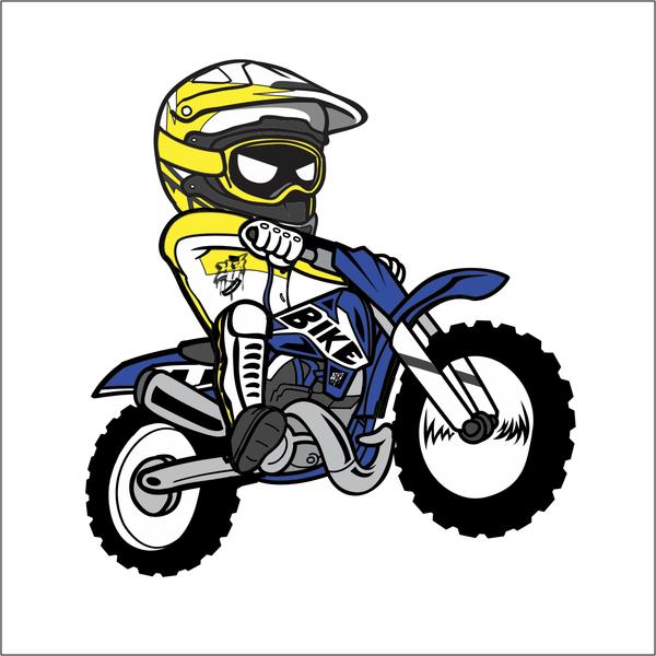 600x600 Cartoon Dirt Bike Sticker Dirt Biking, Motocross And Dirtbikes