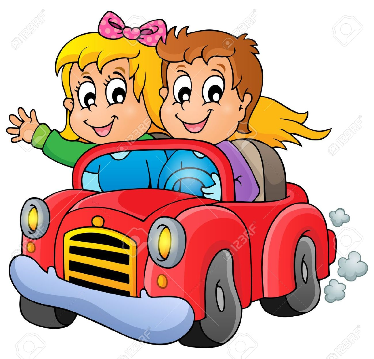1300x1245 Screaming Kids In A Car Clipart