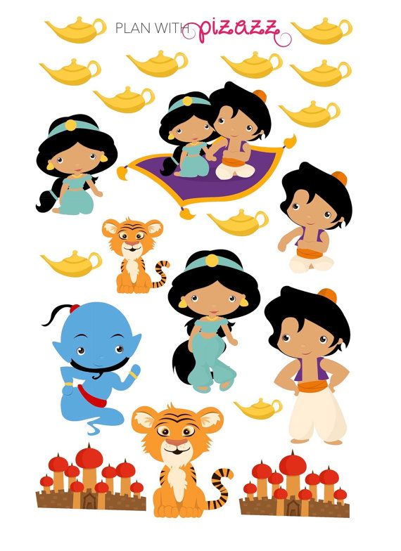 570x784 Disney Aladdin Inspired Themed Planner Sticker By Planwithpizazz